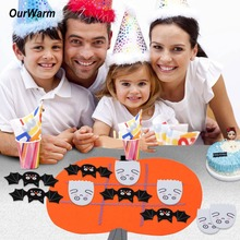 OurWarm Felt DIY Craft Pumpkin Classic Board Game Family Brain Teaser Puzzle Halloween Party Kids Birthday Gifts Decoration