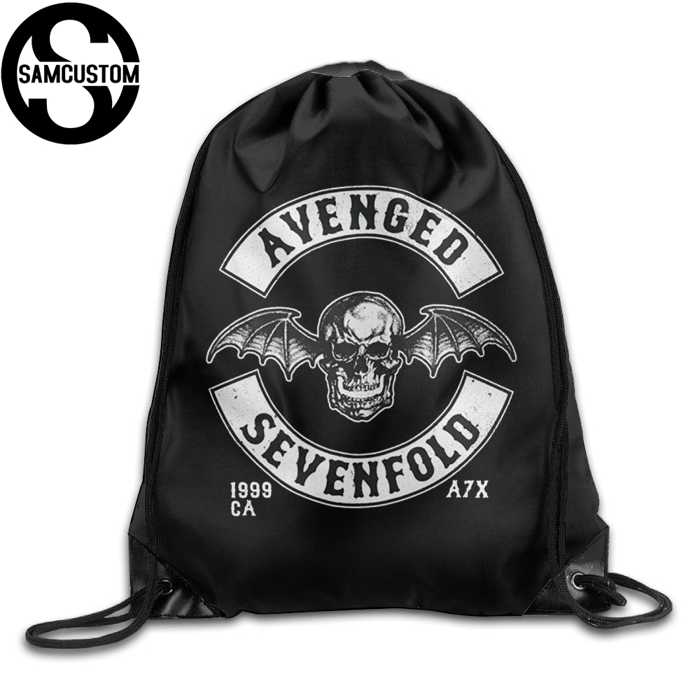 Samcustom Avenged Sevenfold 3d Print Shoulders Bag Fabric Backpack Men And Women Port Drawstring Travel Shoes Dust Storage Bags