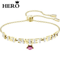 HERO Original Copy High Quality 1:1 SWA Sweetheart Lip Plated Gold Shrink Bracelet With Logo Envelope