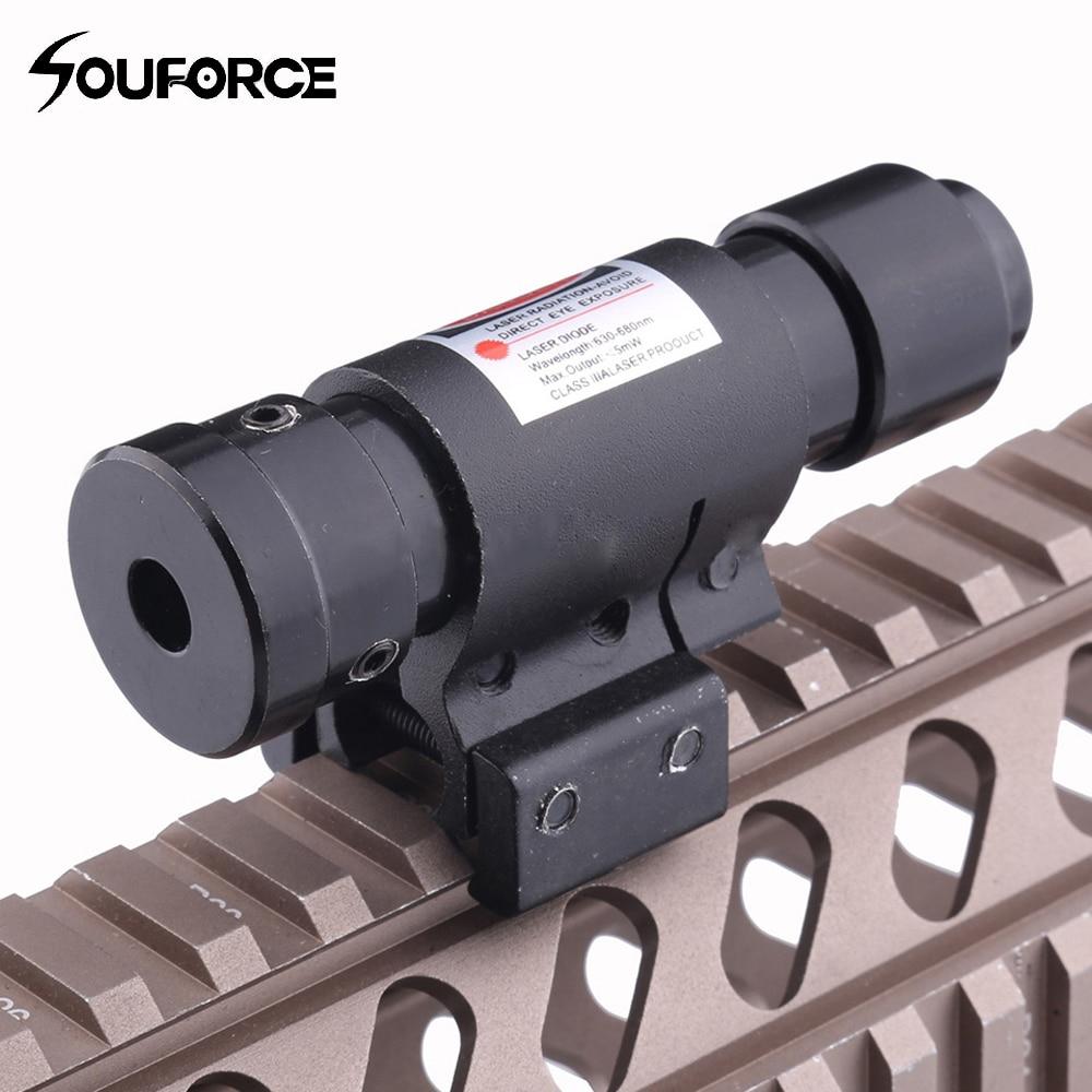 Small Red Dot Laser Sight Wavelength 630-680nm for Pistol Adjustable 11mm 20mm Picatinny Rail