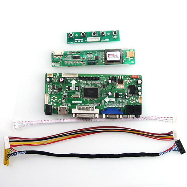 M.NT68676 LCD/LED Controller Driver Board(HDMI+VGA+DVI+Audio) For LP154WX4-TLC1 B154EW02 1280x800 LVDS Monitor Reuse Laptop