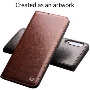 Image 3 - Qialino couro genuíno slot para cartão da aleta caso para xiao mi 9 moda vintage proteção completa capa de telefone para xiao mi 9 6.39 polegada