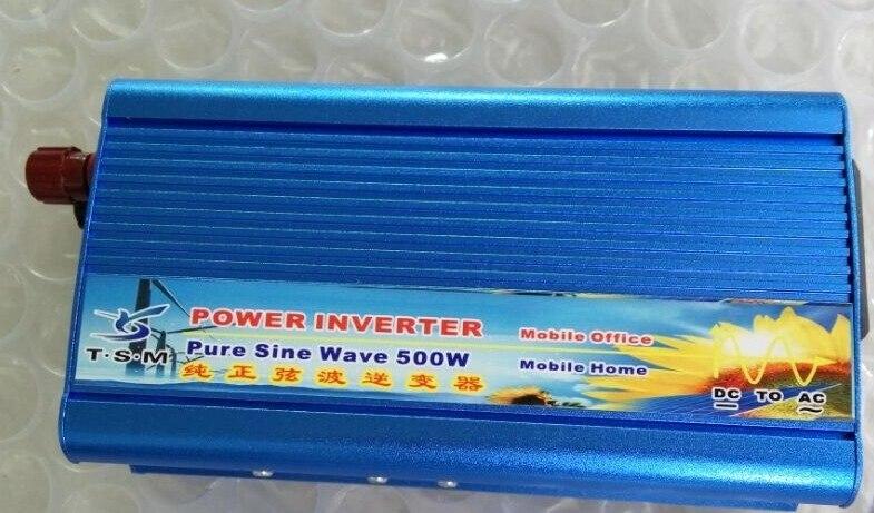 цена на Continuous Power 500W Pure Sine Wave OFF Grid Inverter DC12V/24V to AC 110V 220V Power Inverter