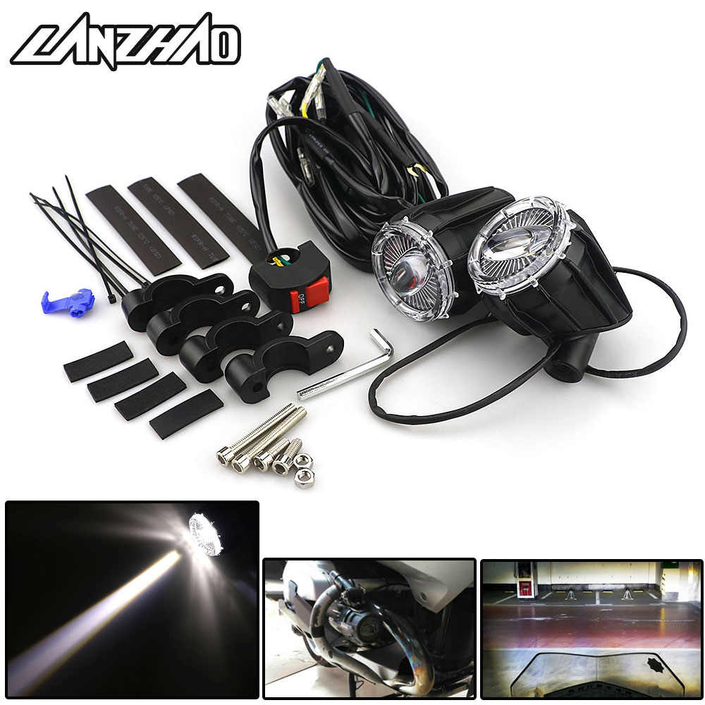 Motorcycle LED Outdoor External High Beam Spot Fog Lights 6500K Head Lamp Universal for BMW F800 R1200RS R1200GT KTM DUCATI
