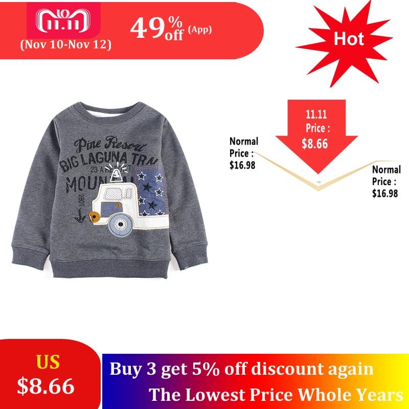 SAILEROAD Toddler Boys O neck Sweatshirts Cartoon Vehicle Printed Boys Sweatshirt for Babies Kids Long Sleeve T Shirts long sleeve v neck pumpkin print halloween sweatshirt