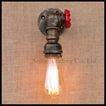 Nordic Industrial Metal Water Pipe Wall Light American Country Loft Wall Lamp E27 Edison Vintage Wall Lamp for Bar Cafe fixture