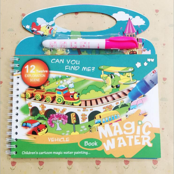 Image 4 - Reusable Magic Water Painting Book Magic Doodle pen Kids Coloring Doodle Drawing Board Toys Baby Educational Toy-in Drawing Toys from Toys & Hobbies