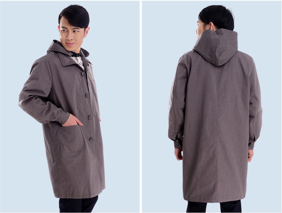 Coupe-vent protecteur élevé de rayonnement d'emf de fibre argentée avec le chapeau, vêtements protecteurs de capuche de dommages de rayonnement de charge électrique.