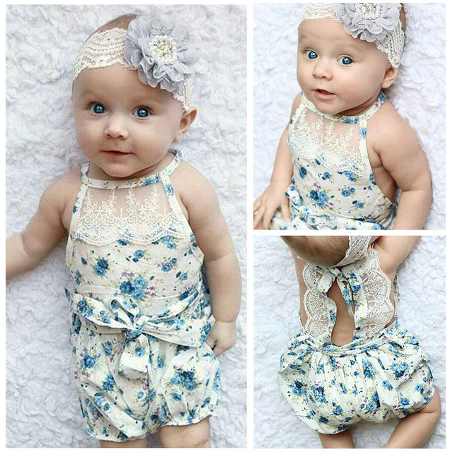 85cc2918dab3 Newborn party Bebe princess girl baby Toddler props baby shower clothes  Rosette kids lace up bubble rompers