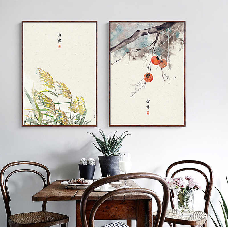 New Chinese Style Plants Harvest Landscape Canvas Painting Art Wall Pictures For Living Room Study Aisle HD  Posters And Prints