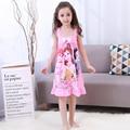 Fashion Cute 2017 Children Clothing Summer Dress Girls Baby Pajamas Cotton Princess Nightgown Kids Home Cltohing Girl Sleepwear