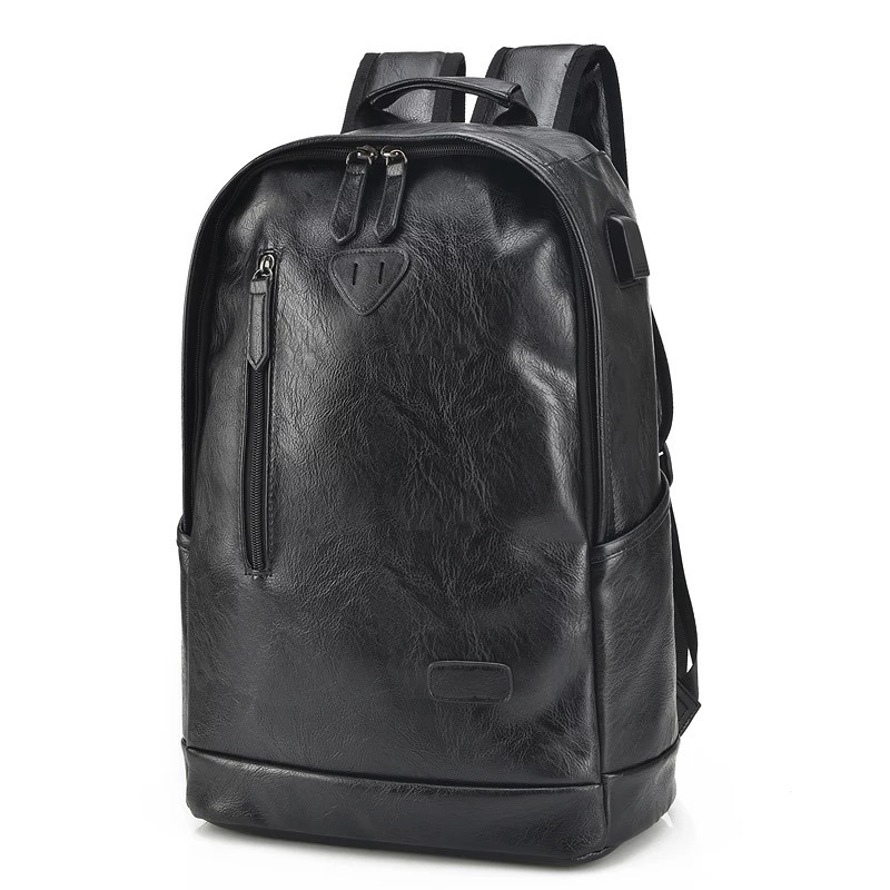 YGDB Brand Unique Men PU Leather College School Backpacks For Teenagers Women Luxury Laptop Travel Bag Rucksack Solid P7003#