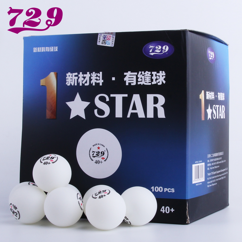 100 Balls Friendship 729 Plastic 40 Table Tennis Balls New Material 1 Star Seamed Poly Ping