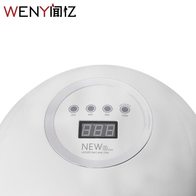 WENYI nowy projekt NEW5plus LED lampa UV do paznokci 72 W suszarka do paznokci utwardzania wszystkich żel polski moda sprzętu do paznokci narzędzia artystyczne maszyna do w Suszarki do paznokci od Uroda i zdrowie na  Grupa 3