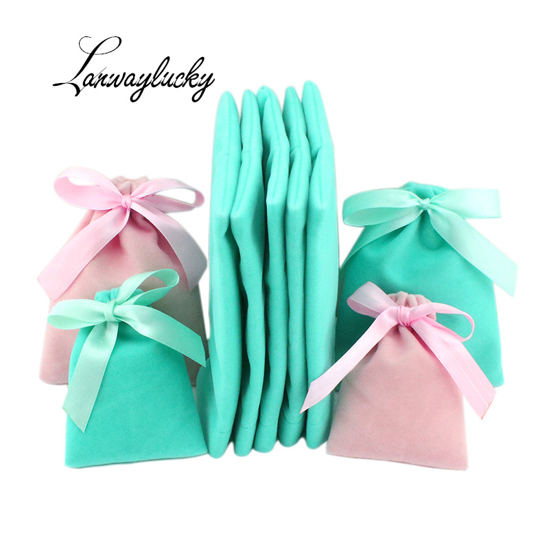 7x9 10x12 10x15cm Butterfly Drawstring Gifts Bags Velvet Pouch Packaging Display Cosmetic Party Favors Candy Jewelry Pouches Bag