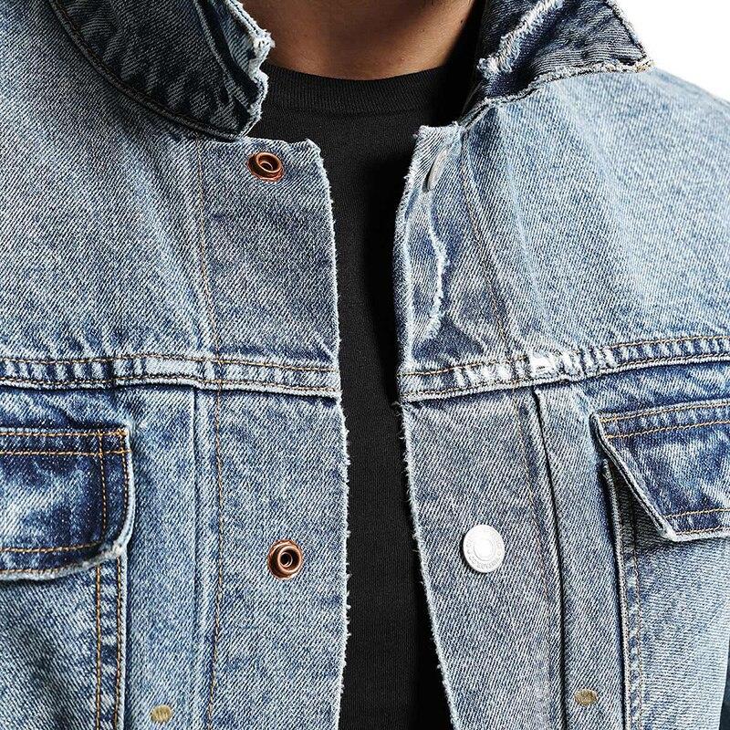 SIMWOOD di 2019 autunno del Cotone di Inverno Redline Giubbotti jeans Degli Uomini di Modo Tasche Foro di Modo Strappato I Jeans Slim Fit Cappotti NK017013-in Giacche da Abbigliamento da uomo su  Gruppo 2