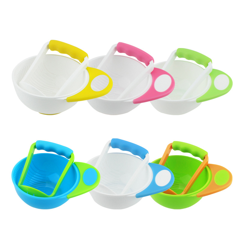 New Baby Tableware Food Feeding Bowl Plate Grind Fruit Food For Baby Eating Infant Feed Dishes Food Containers Child Kids Bowl