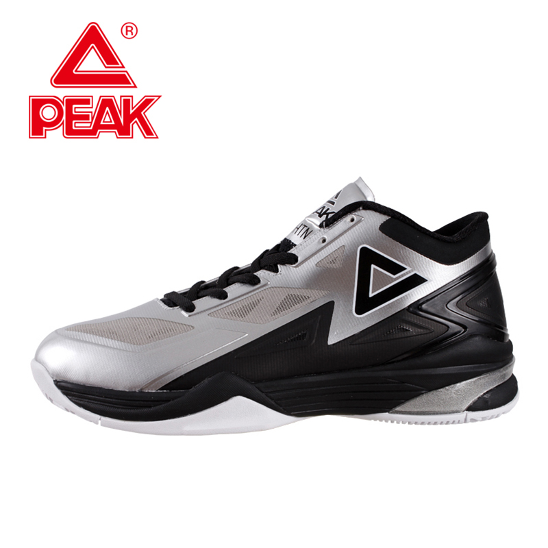 PEAK SPORT Lightning II Men Authent Basketball Shoes FOOTHOLD Cushion-3 Tech Sneakers Athletic Training Sports Boots EUR 40-50 peak sport hurricane iii men basketball shoes breathable comfortable sneaker foothold cushion 3 tech athletic training boots