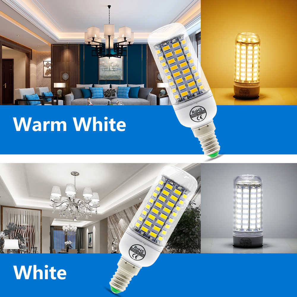 E27 E14 светодиодный кукурузная Лампа 220 V SMD5730 89 светодиодный s белый/теплый белый светодиодный светильник для дома современные Гостиная светодиодный свет лампы
