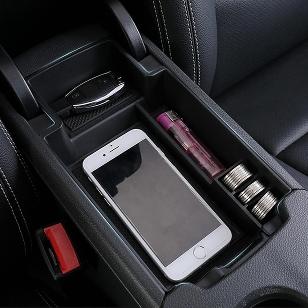 Caja de almacenamiento para reposabrazos de coche con bandeja central para una clase B GLA CLA A180 A200 A250 A260 B180 B200 GLA200 GLA220CDI GLA250 2014+