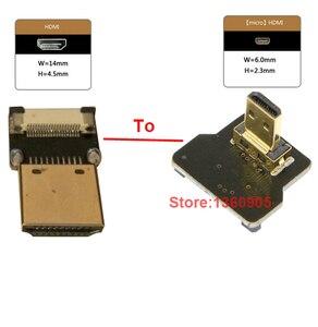 Image 2 - 40เซนติเมตร/50เซนติเมตร/60เซนติเมตร/80เซนติเมตร/1เมตรอัลตร้าบางสายHDMI FPVไมโครชายขึ้นมุม90องศาเพื่อมาตรฐานTypeAชายตรงโอ(ซ็อกเก็ต)