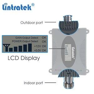 Image 2 - Lintratek 3G amplificateur cellulaire 2100MHz répéteur de Signal de téléphone portable amplificateur de Communication de données Internet 2100 WCDMA écran LCD dd