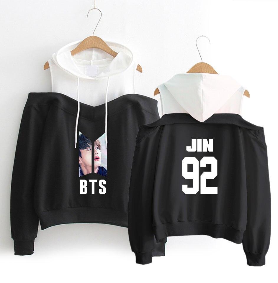BTS 2018 Amour Vous-Même Auto-Portrait Hoodies Off-Épaule Femmes Vêtements 2018 Harajuku Shirts Kpop Hoodies de Bande Dessinée Vêtements
