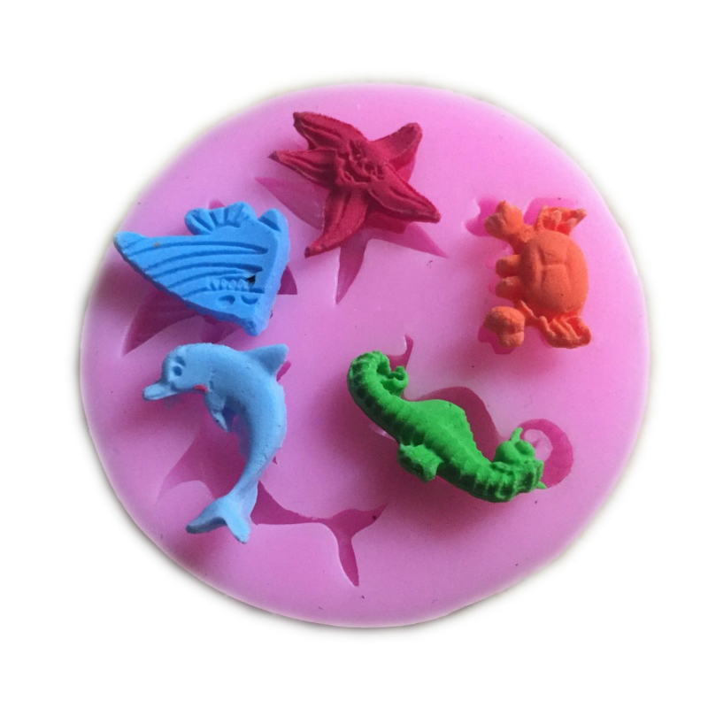 6*0,9 cm DIY Silikon Marine Tiere Kuchen Form Keks Kuchen Formen ...