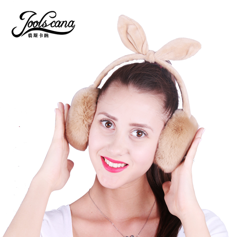 Joolscana Warm Earmuffs Real Fur Earmuffs Women Girl Winter Earmuffs Colorful Lovely New Brand New Year's Gift Present