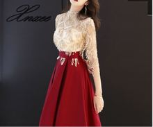 Dress female 2019 new summer long sequins dignified atmosphere banquet dress noble and thin