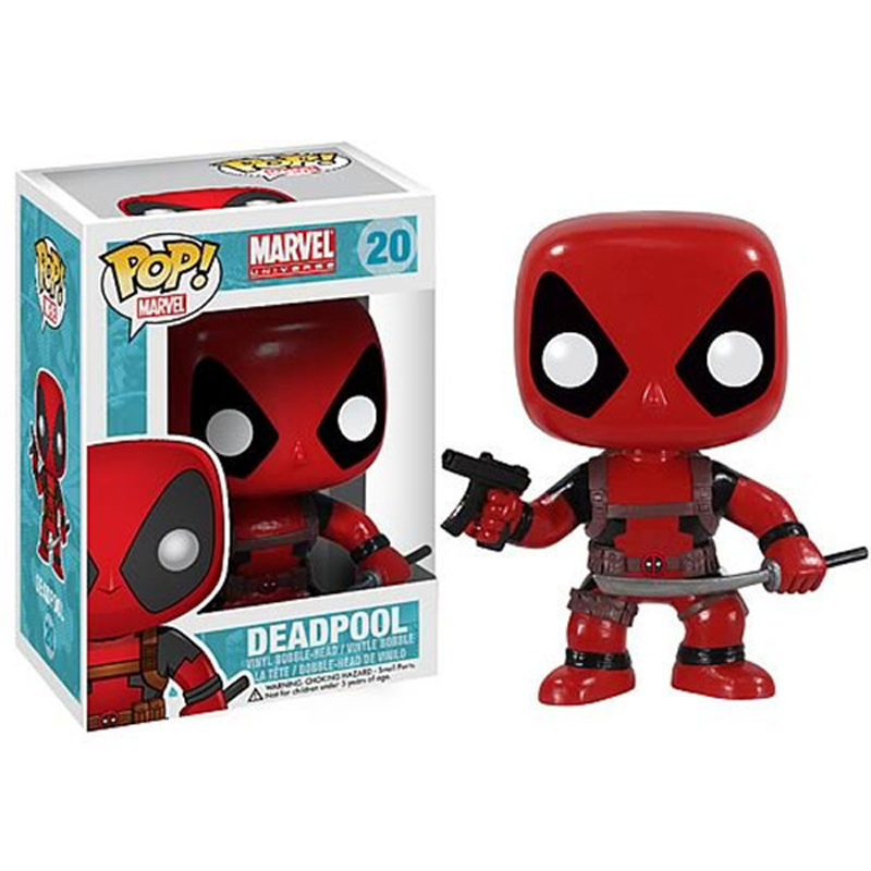 1pcs funko pop marvel the avenger deadpool captain american batman vinyl bobble-head...