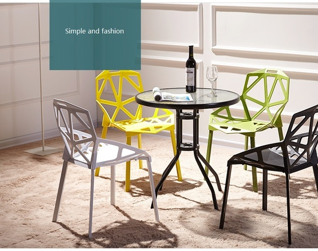 Einfache Stilvolle Wohnzimmer Stuhl Garten Einfache Hocker Weiß Grün Rot  Orange Farbe Haushalts Stuhl Einzelhandel Großhandel