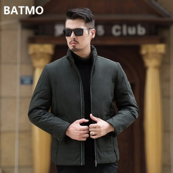 Batmo 2018 new arrival winter high quality 90% white duck down casual jackets men,men' warm winter parkas plus-size 8726