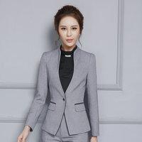 2017 New Female Elegant Pant Suits OL Formal Work Wear Women S Long Sleeve Blazer With