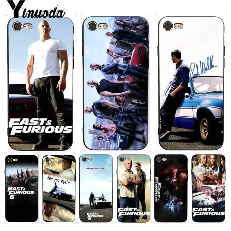 Yinuoda Voor iPhone 7 6 Case Fast & Furious en Paul Walker Mode Telefoon Case voor iPhone X 8 7 6 6S Plus X 5 5S SE XR XS XSMAX