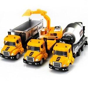 Image 3 - 1 個ミニおもちゃ車モデル合金ダイキャストエンジニアリング建設消防車救急車輸送車教育子供のギフト