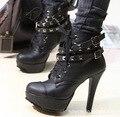 Mulheres botas de salto alto zapatos mujer mulheres ankle boots 2016 sapatos hot mulher botas