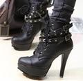 Sapatos mulher botas de salto alto zapatos mujer mulheres botas 2016 new arrivals mulher botas
