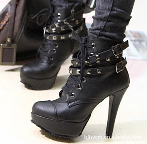 Kadın ayak bileği boots zapatos mujer 2016 sıcak ayakkabı kadın çizmeler kadın çizmeler yüksek topuk
