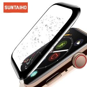 Image 1 - Suntaiho Dành Cho Đồng Hồ Apple 4 Tấm Bảo Vệ Màn Hình 4D Kính Cho Đồng Hồ Apple 42 Mm 38 Mm 40 Mm 44mm Dùng Cho Các Dòng Đồng Hồ Apple 2 1 3 4