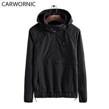 CARWORNIC 2018 Hot Trench Coat Men Spring Autumn Hooded Windbreaker Jackets Male Hat Detachable Waterproof Casual Men Clothing