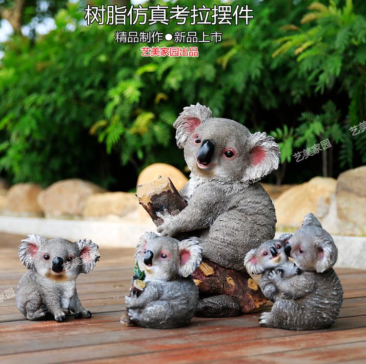 jardn patio decoracin artesana muebles para el hogar creativo simulacin koala animal escultura de resina adornos