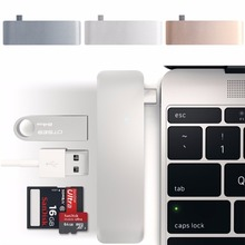 5-In-1 USB-C 3,1 Typ C Hub USB 3.0 Combo PD-Strom SD/TF Kartenleser Für Dell HP MacBook Laptop