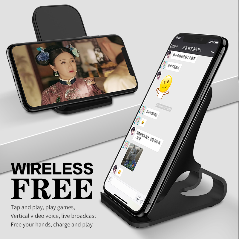 10W Qi Wireless Charger For iPhone Xs Max Xr X for Samsung S10 S9 Intelligent Infrared Fast Wirless Charging Car Phone Holder in Mobile Phone Chargers from Cellphones Telecommunications