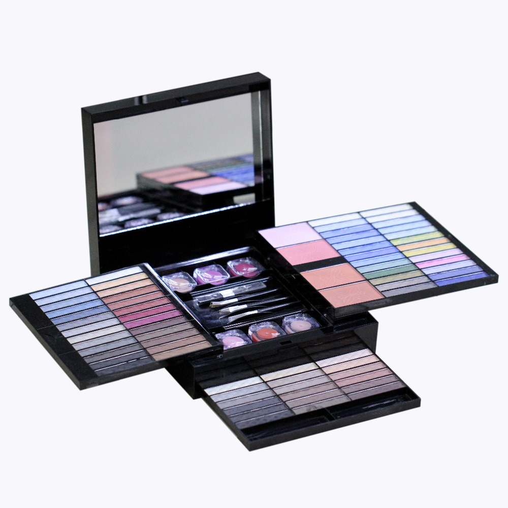 2017 MEIS Brand 80 Colors Eye shadow Set Makeup Set Cosmetics Brush For Makeup Lip Gloss Brow Shader Gel Brush Kit Tools 38mm ms180 cylinder piston kit with rings and decompression value for stihl chainsaw parts