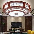 Китайская антикварная твердая деревянная Светодиодная потолочная лампа для гостиной столовой лампа ретро круглая лампа для спальни гости...