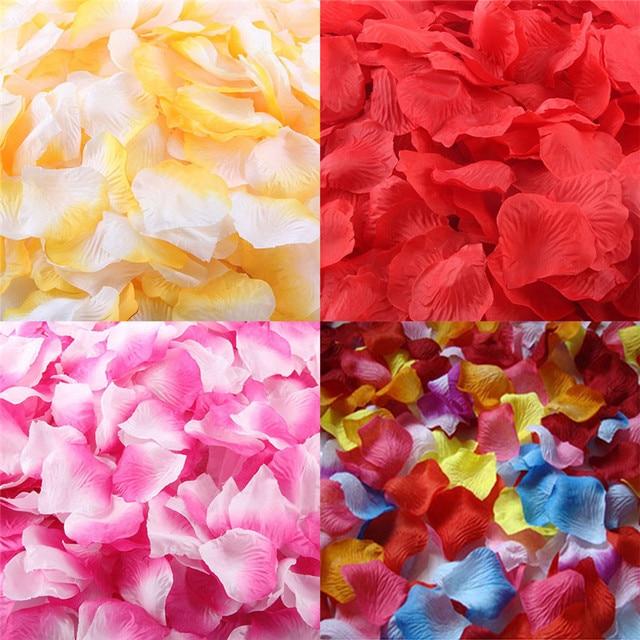1000pcs Artificial Silk Rose Petals Wedding aisle decoration flower ...