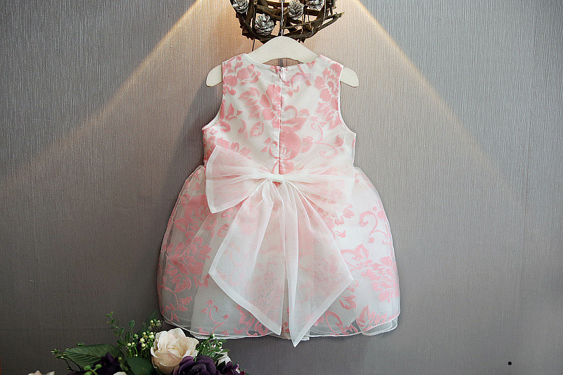 Bosudhsou yyy-43 New Summer Cute Baby Girl Dress Organza Floral - Children's Clothing - Photo 5