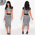 2016 Мода Sexy Вечерний клуб Bodycon Тонкий женщины комплект Бесплатная доставка