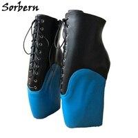 Sorbern пикантные ботинки до середины икры Для женщин балетки на танкетке нешипованной сапоги обувь на заказ широкие икры обувь знаменитостей
